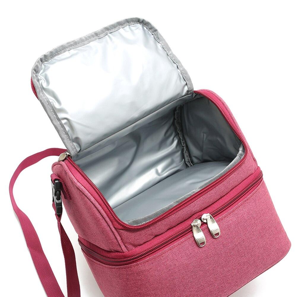 7L Heat-preservation Lunch Bag Food Beverage Wine Beer Storage Bag Oxford Cloth Durable Portable Waterproof Lunch Bag for Picnic