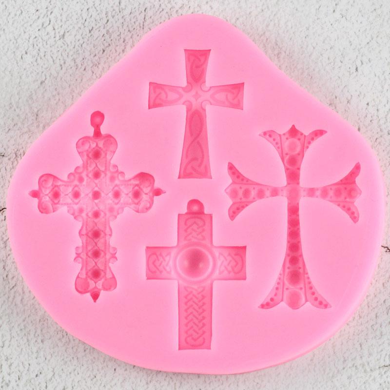 Moldes de silicona 3D para manualidades con punto de cruz, moldes para cupcakes, herramientas de decoración de pasteles de Navidad, moldes de resina de caramelo, moldes de pasta de goma y Chocolate