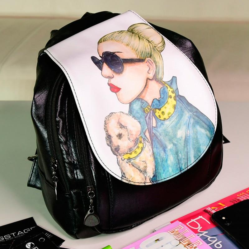 2020 mujeres vintage mochila para mujeres, mochila para viajes de vuelta hombro. Bolso mujer mochila Gaga