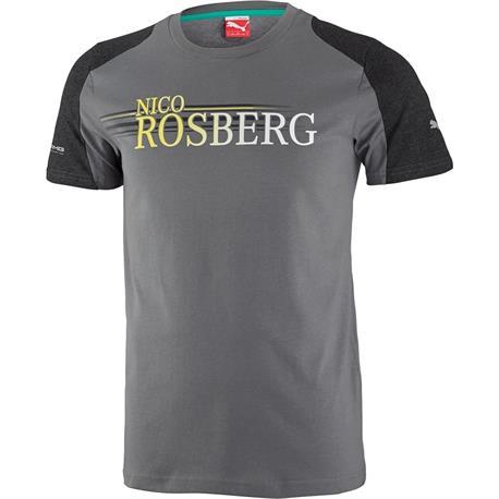 Mercedes camiseta masculina rosberg gray tamanho s
