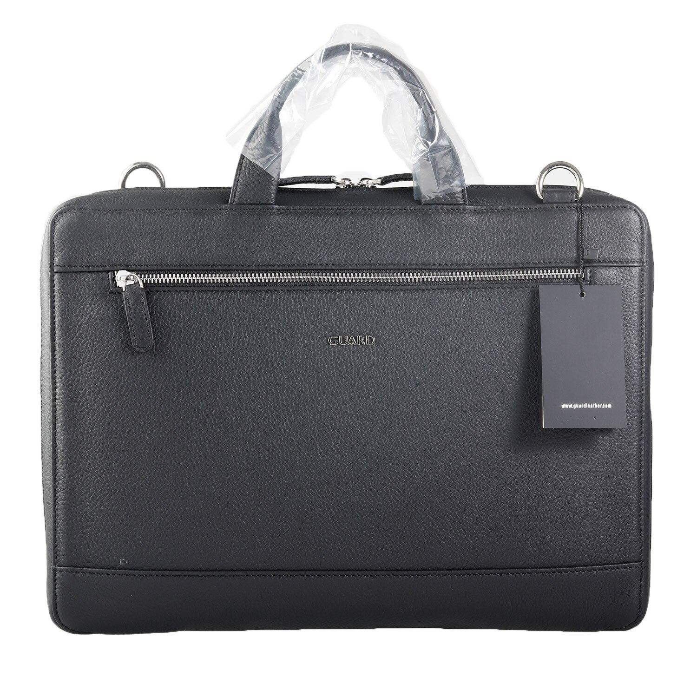 Guard Laptop And Briefcase Genuine Leather Original Black Special Production Man Business Shoulder Bag 15 Inch Laptop Bag Unisex