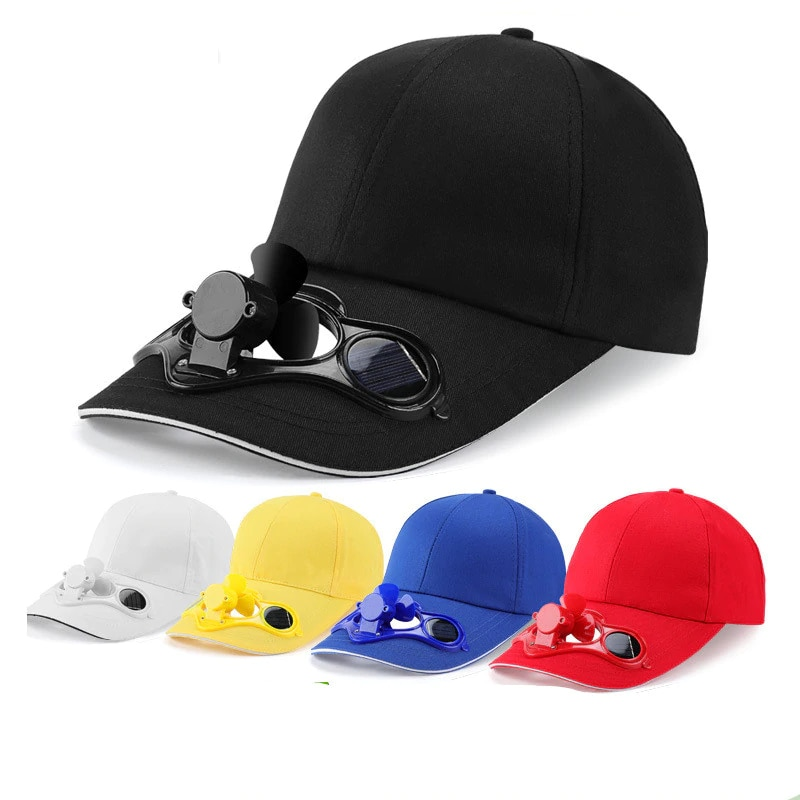 New Novelty Unisex Hat Fan Cooling Camping Hiking Sport Summer Baseball Outdoor Travel Cap with Solar adult Бейсболка