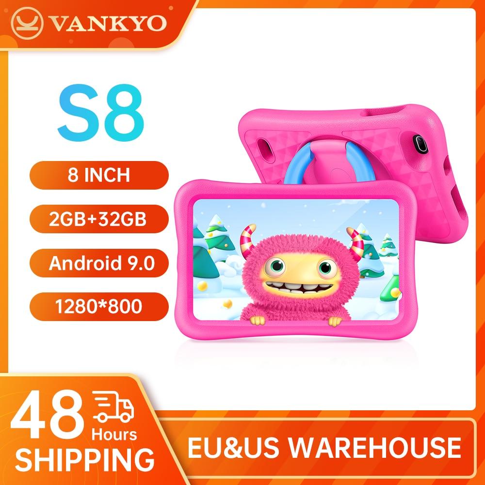 VANKYO S8 Kids Tablet 8 inch MatrixPad WiFi Children Tablet 2 GB RAM 32 GB ROM Storage HD Display Best Gift for Kids Dual Camera