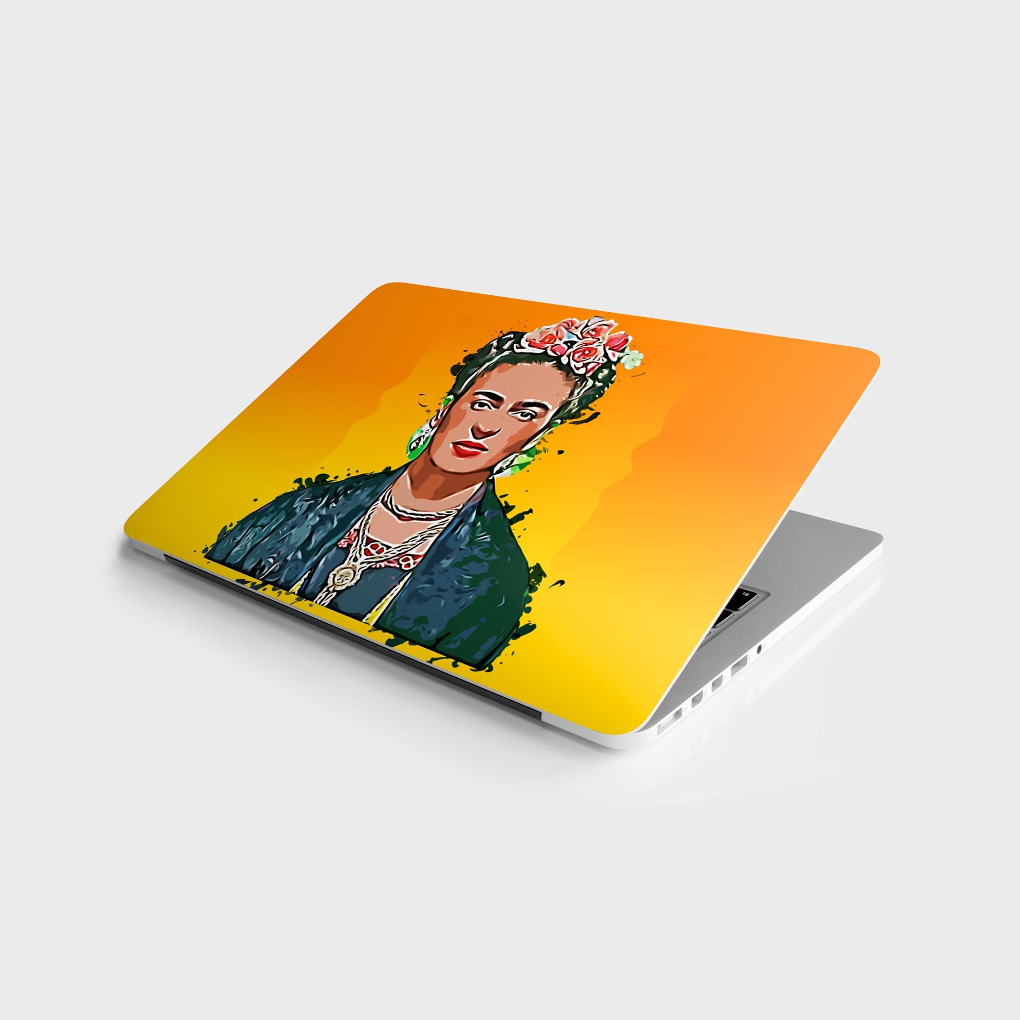 "Adesivo mestre frida kahlo etiqueta universal portátil vinil adesivo capa de pele para 10 12 13 14 15.4 15.6 16 17 19 ""inc notebook decalque para macbook, asus, acer, hp, lenovo, huawei, dell, msi, apple, toshiba, compaq"
