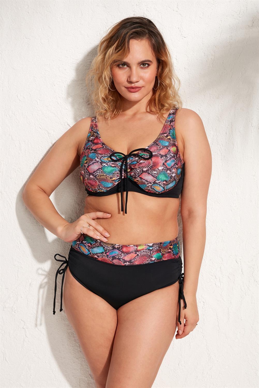 Ola Chicas Plus Size Underwire Minimizer Bikini Set 2021 New Fashion 2 Piece Swimwear For Women 4xl 5xl 6xl 7xl Swimsuit