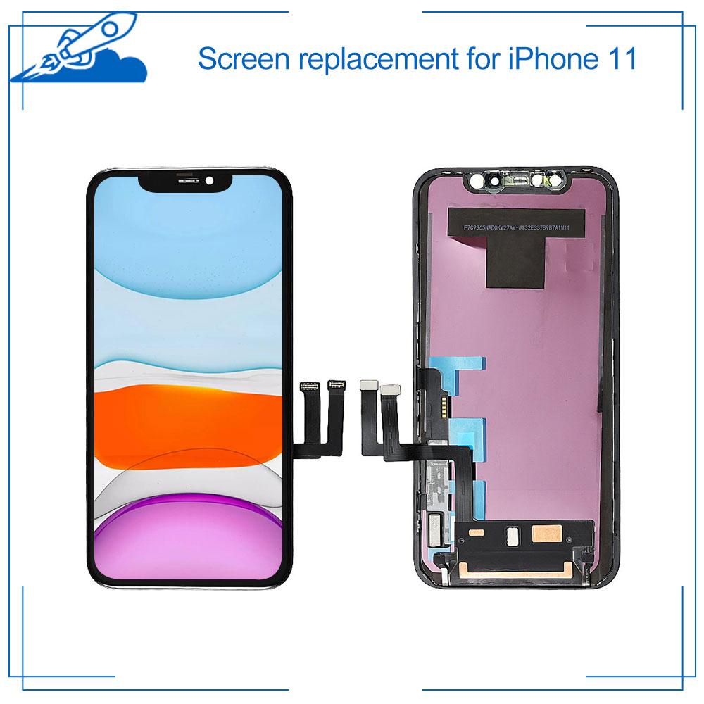 Класс AAA + + + для iPhone 11 сетчатый ЖК-дисплей с 3D кодирующий преобразователь сенсорного экрана в сборе Замена для iPhone11 запчасти с подарком
