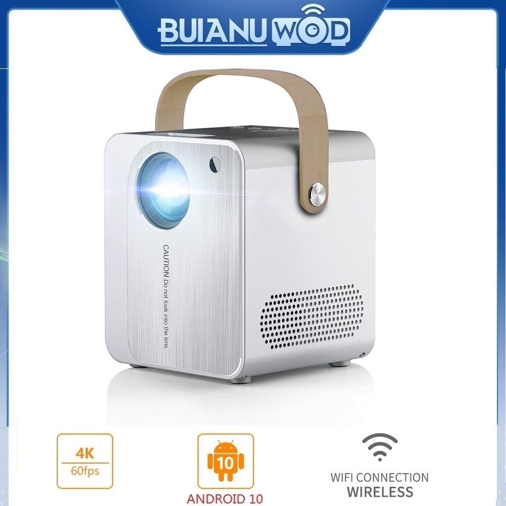 BUIANUWOD-miniproyector portátil CP350 para cine en casa, Proyector inteligente LED de 150...