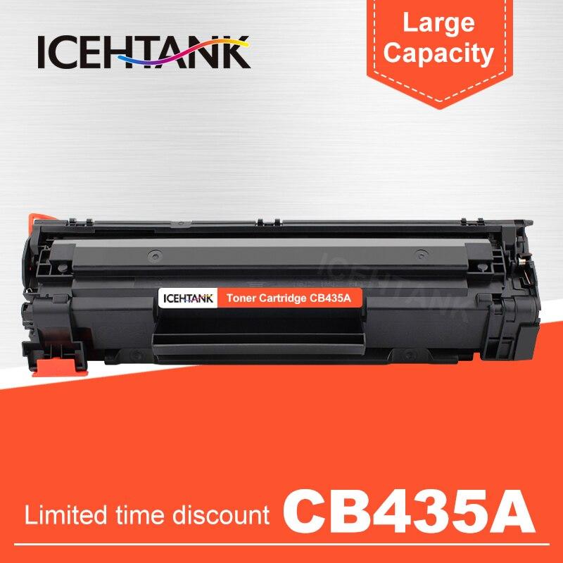 Cartucho de tóner recargable negro ICHTANK para HP 35A CB435A para HP LaserJet P1005 P1006 LaserJet P1505 P1505N M1120 M1120n M1522