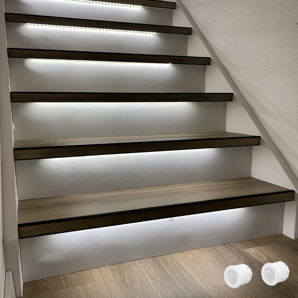 1.3M LED Strip 13 Steps Automatic stair lighting with Motion Sensor-Plug and Play enlarge