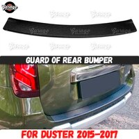 guard of rear bumper for renault duster 2015 2017 abs plastic accessories protective plate cover scratch car styling tuning