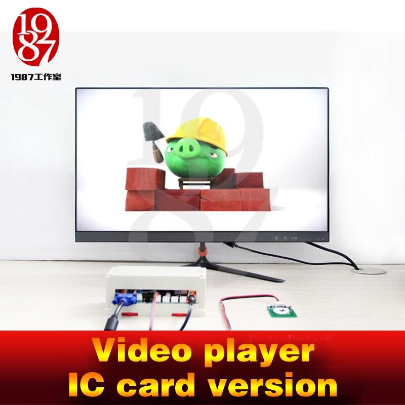 Гаджет для побега комнаты, видео плеер, опора, Карта IC в кард-ридер, для получения видео-подсказок, камера, игра в комнату, jxkj1987 для приключени...
