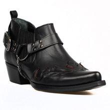 Черные ковбойские ботинки в западном стиле с красной шнуровкой ботинки с острым носком и ремешком из искусственной кожи ручной работы; Сезо...