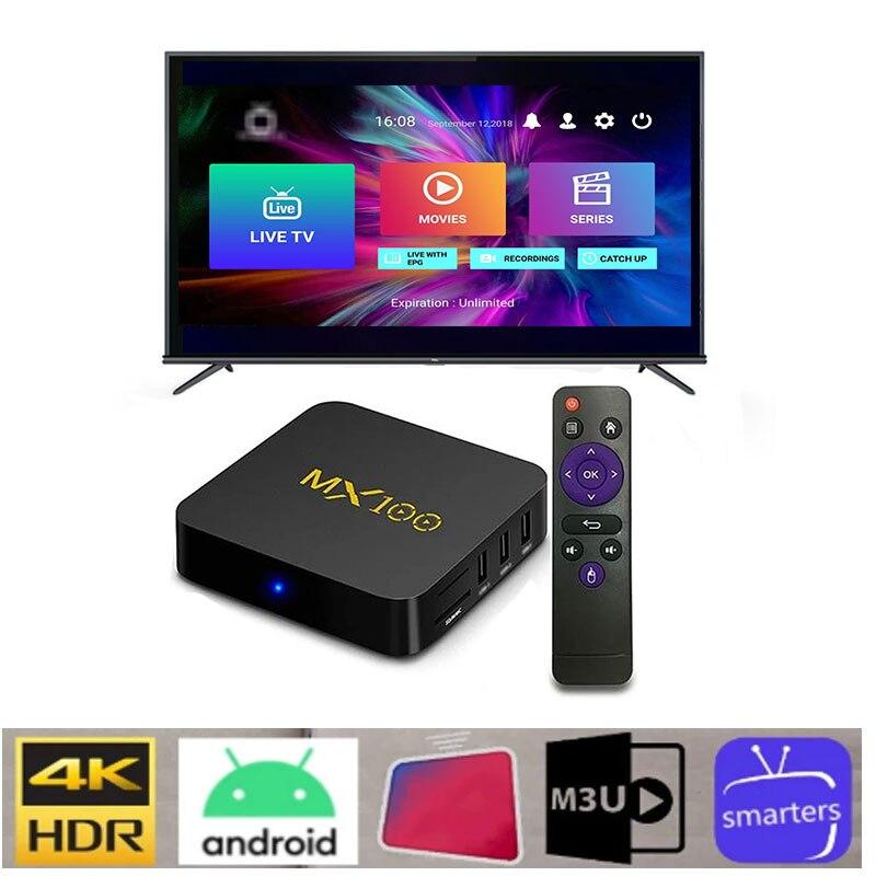 Best Android TV MX100 MINI 1 Year Warranty IPTV BOX So Stable Fast Set Top MX100 MINI Support M3U AP