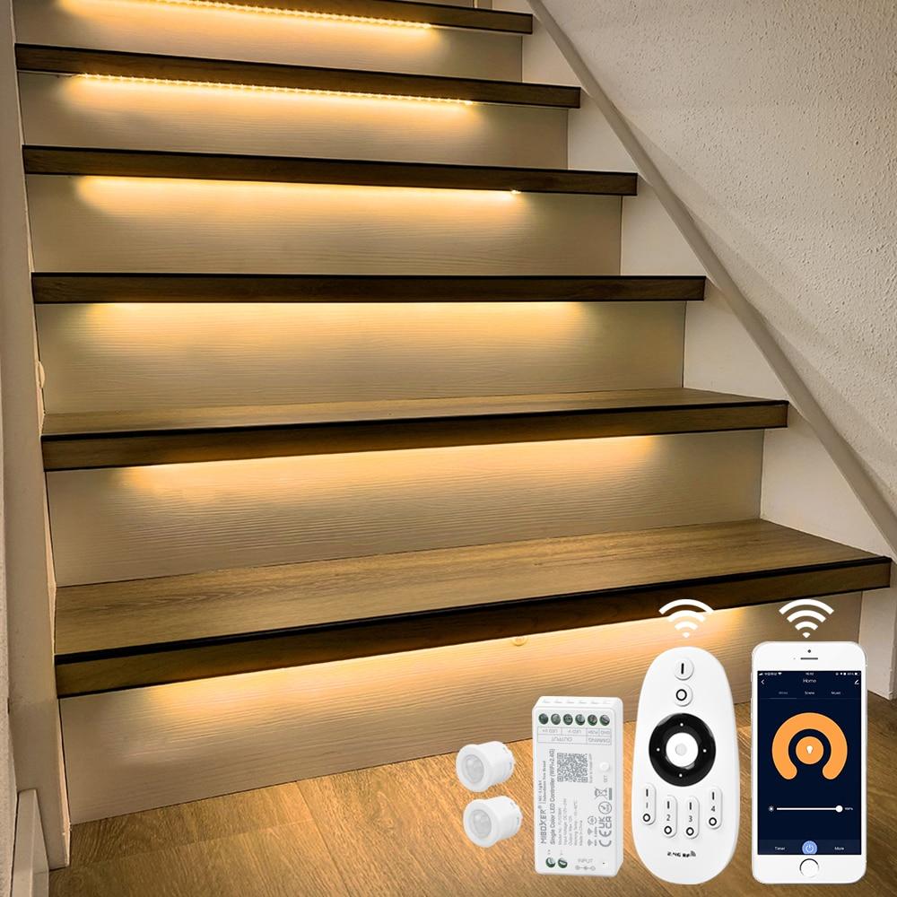 13 Steps 1.3M Stair motion sensor light strip with Tuya App WIFI LED Dimmer-Plug and Play