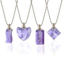 2 pièces flacons en cristal urne pendentif mémorial Suncatcher urne bijoux crémation bijoux urne collier pour cendres cristal urne collier