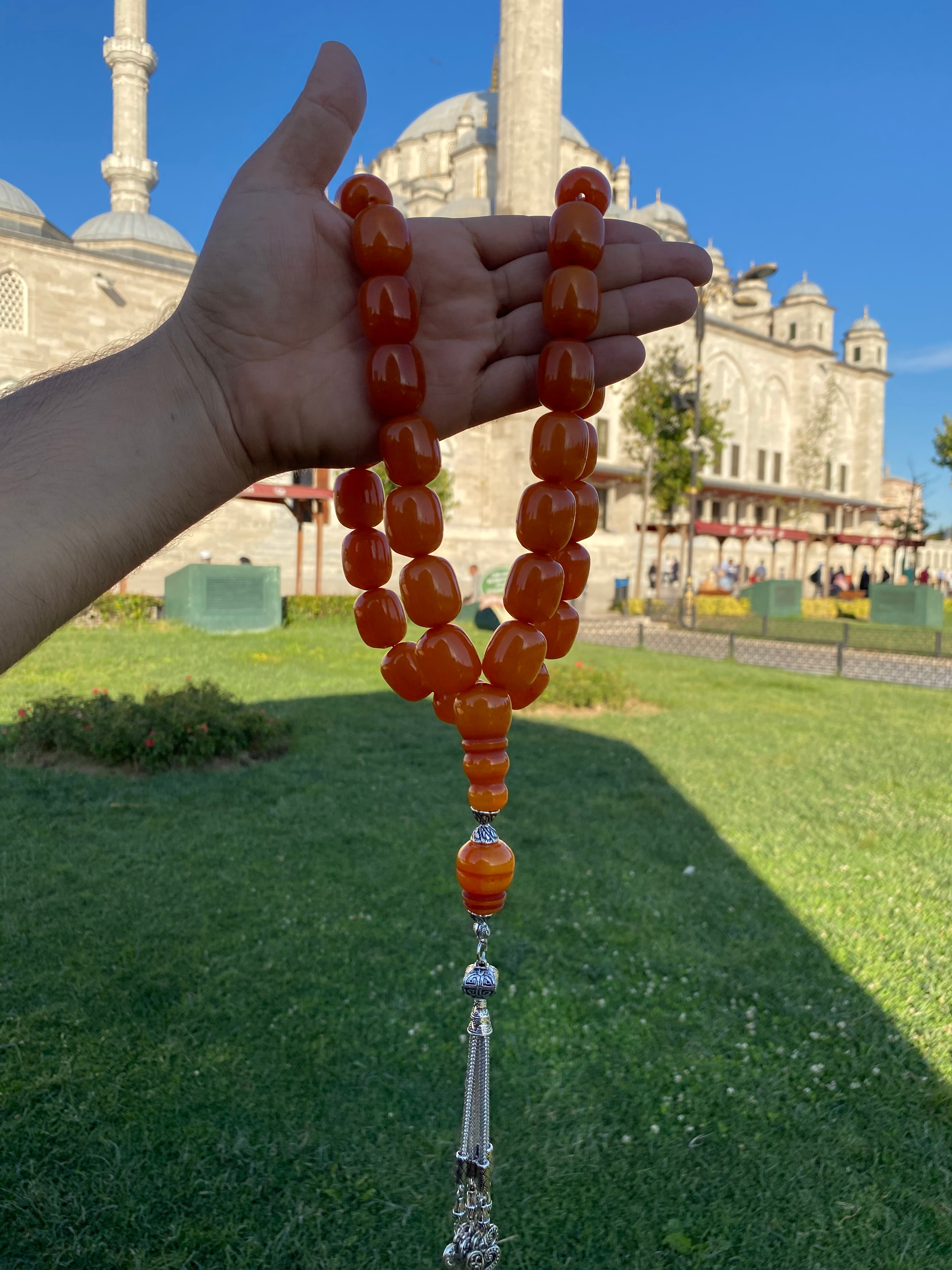 İslam Ottoman Kahraman Faturan German Cherry Amber Sandalous Misbaha Rosary Free Shipping  Tasbih Tesbih İslamic Arabic Gift