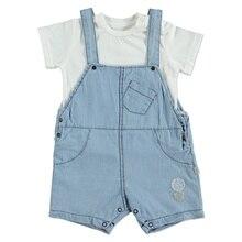 ebebek BabyZ Summer Baby Boy Star Printed Cotton T-shirt Jumpsuit Set