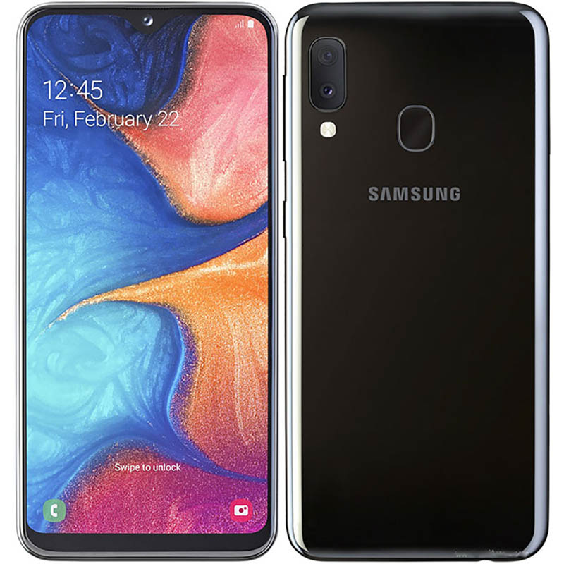 Восстановленный сотовый телефон Samsung Galaxy A20e SM-A202F 5,8 дюйма с двумя SIM-картами 3 ГБ ОЗУ 13 МП смартфон android