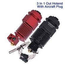 3 en 1 sortie Hotend commutation couleur 12V 24V Bowden extrudeuse 1.75MM Filament 3D imprimante pièces V5 bloc chauffant MK8 Titan téflon e3d