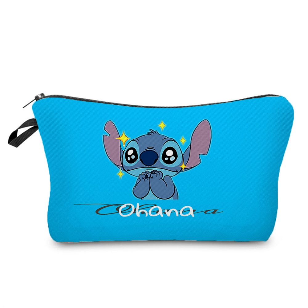 Disney Lilo & Stitch Makeup Bag With Printing Pattern Cute Organizer Bag Pouchs For Travel Cosmetic