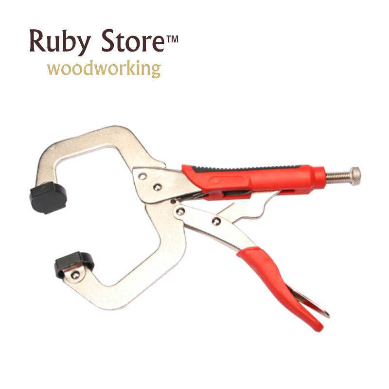 11 inch Face Clamp Locking C-Clamp Pliers Easy Quick Release For Dowelling Jig and Pocket Hole Jig Woodwork Construction Joint h59400 clamp 9 locking welding clamp alloy steel vise grip locking welding quick pliers wood tenon locator