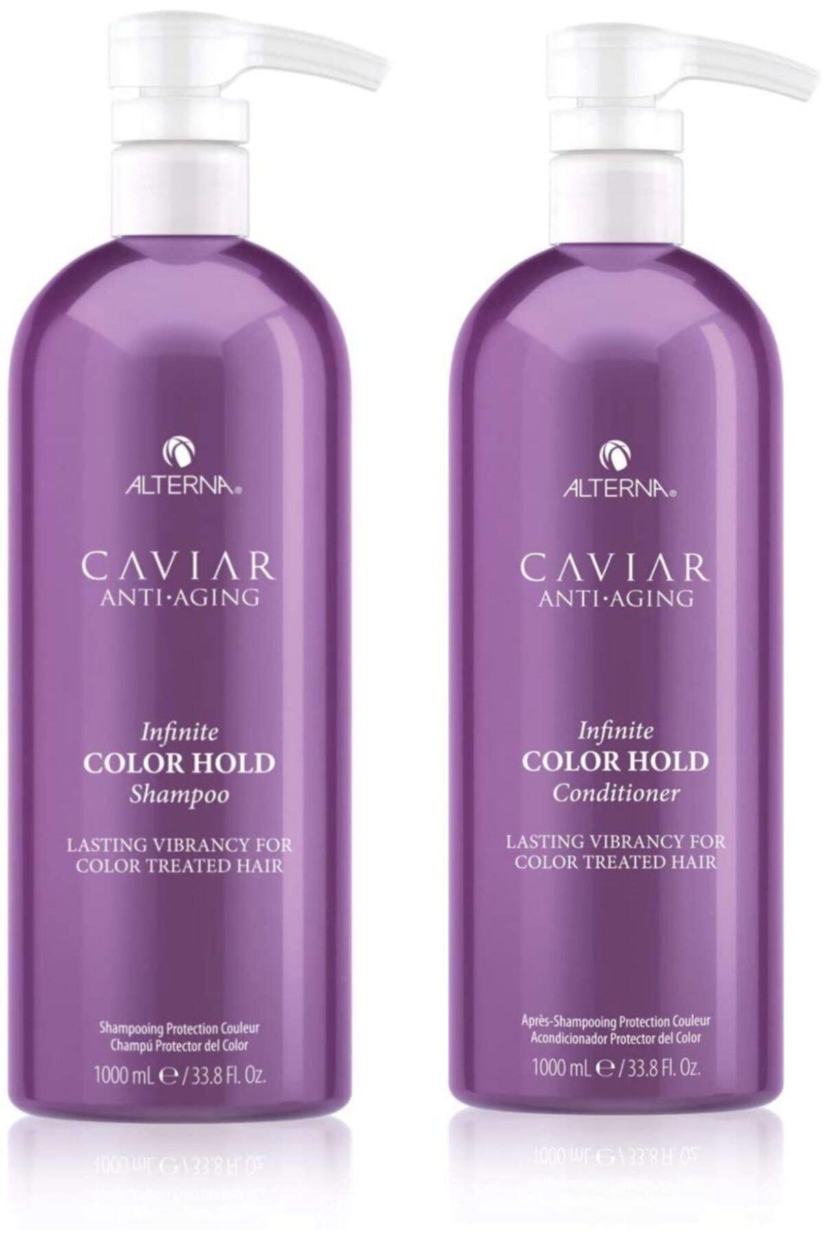 ALTERNA Caviar Color espera champú 1000 ml + acondicionador 1000 ml