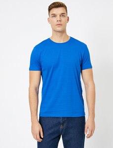 MEN BLUE T-SHIRT (SLIM FİT)
