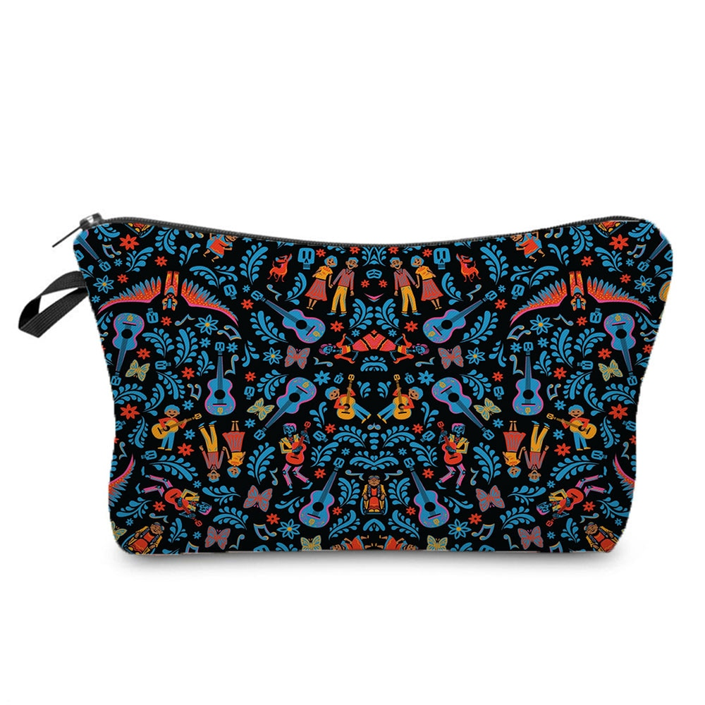 New Disney Coco Design Cosmetic Bags Black Fashion Female Makeup Bag Hot Women Travel Wash Storage B