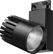 LED éclairage sur rail al105, 40W, 3600 LM, 4000 K, 35 degrés, noir, 3x phase