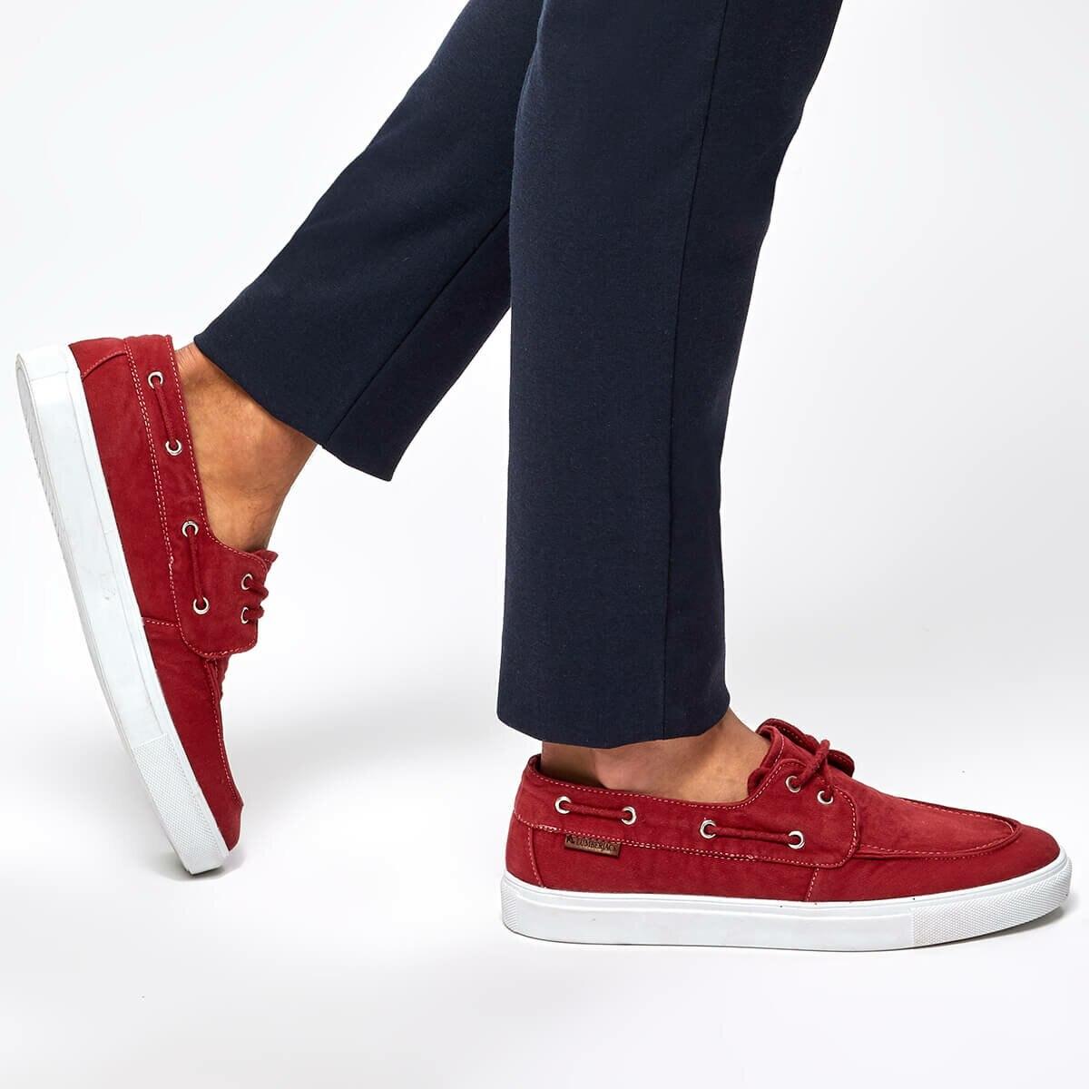 FLO DAYTONA zapatos de hombre rojos LUMBERJACK