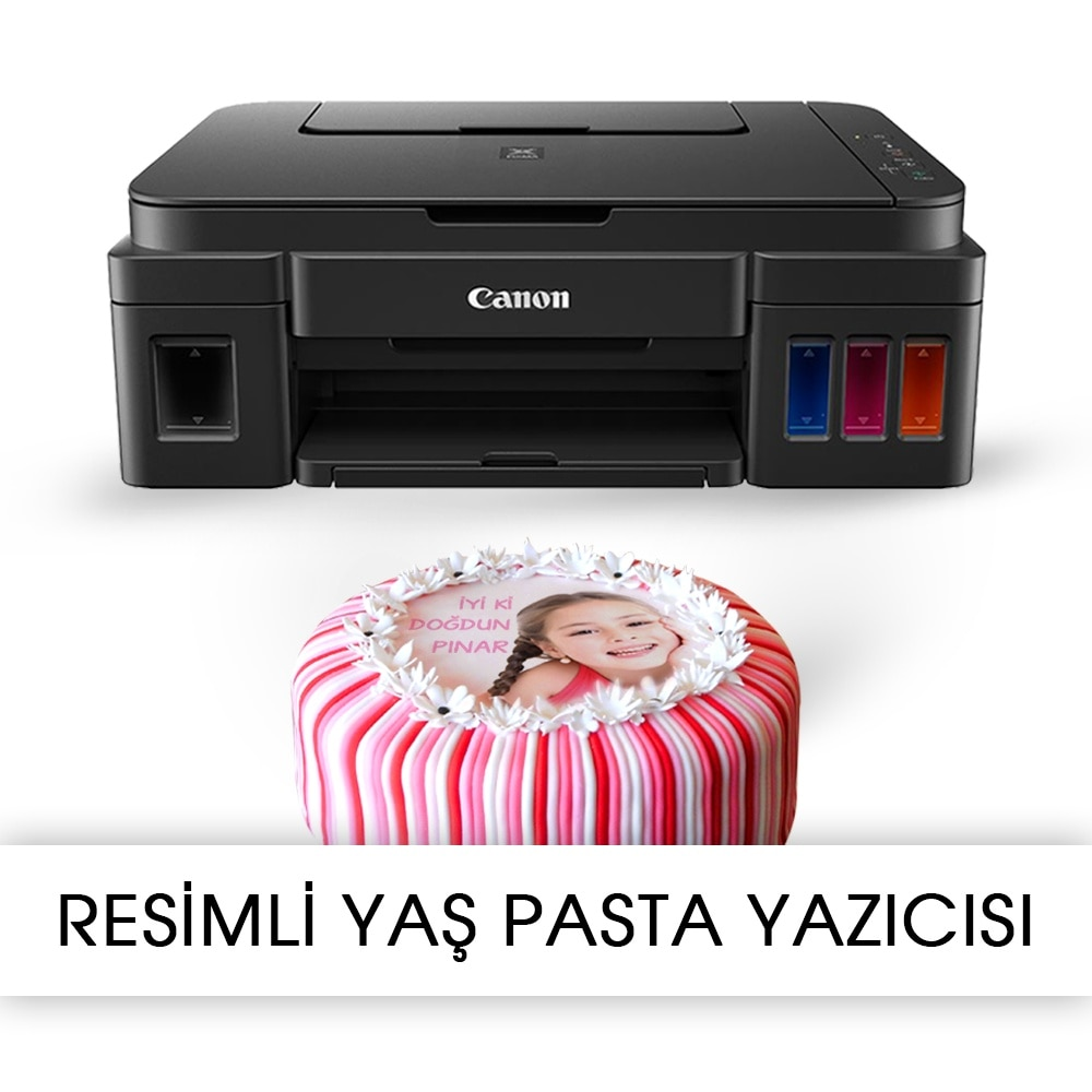 ILLUSTRATED CAKE NETWORK printer-CANON PIXMA G2411 Food INKING BİTMEYEN CARTRIDGE system