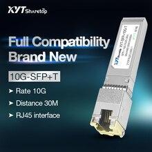 Módulo transceptor óptico ethernet Sharetop 10G convertidor óptico RJ45 a ethernet SFP + 10GBASE-T totalmente compatible