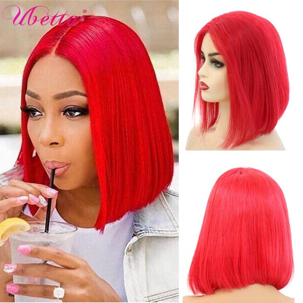 UBETTA Real Hair Wigs Non Lace Front Short Bob Human Hair Full Machine Wig Hair Cosplay For Black Women perruque cheveux humain