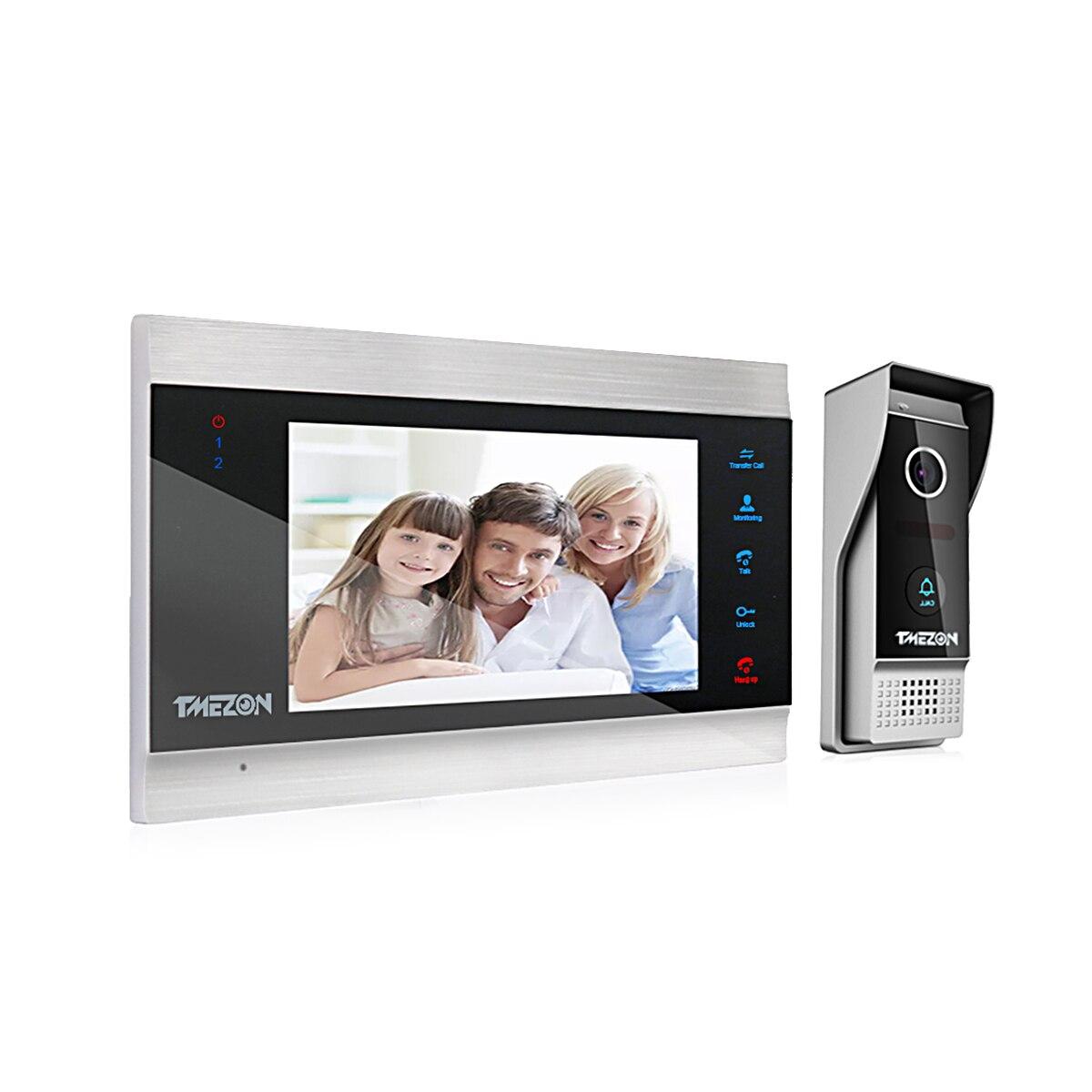 TMEZON 7 Inch 1080P TFT Wired Video Intercom System with1080p Waterproof Door Phone Camera,Support Recording / Snapshot Doorbell