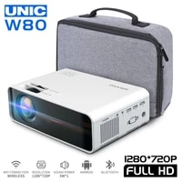 W80     projecteur de maison HD  HDMI AV USB SD VGA  compatible avec son Dolby  Android 6 0  3500 Lumens  USB