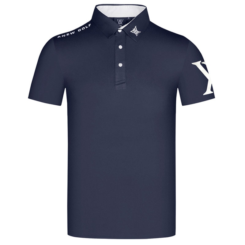 جديد تيشيرت صيفي الرجال قصيرة الأكمام جولف تي شيرت الرياضة جولف الملابس في الهواء الطلق تيشرت رياضي S-XXL في الاختيار شحن مجاني