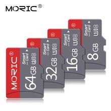 Moric 마이크로 SD 256 기가 바이트 128 기가 바이트 64 기가 바이트 32 기가 바이트 16 기가 바이트 8 기가 바이트 4 기가 바이트 마이크로 SD 카드 SD/TF 플래시 카드 메모리 카드 32 64 128 기가 바이트 microSD 무료 어댑터