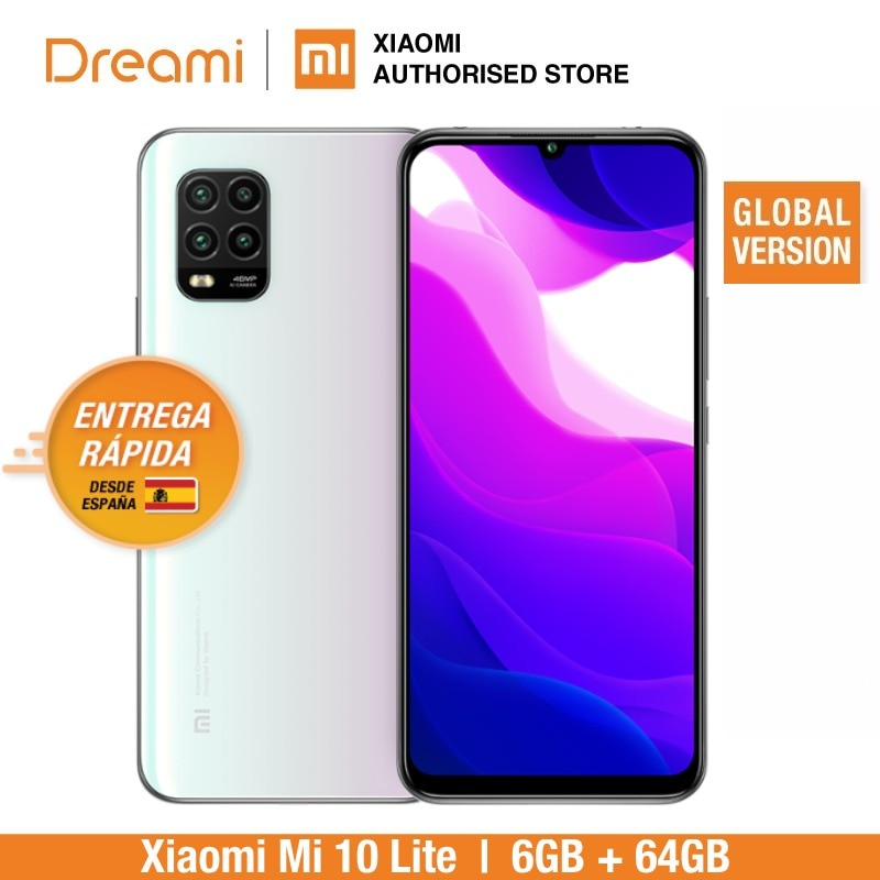 Versión Global Xiaomi Mi 10 Lite 6GB RAM 64GB ROM (nuevo y sellado) mi10lite 10lite 64 teléfonos inteligentes