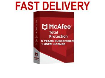 Antivirus McAfee Protection totale 1 PC / 5 ans Licence clé