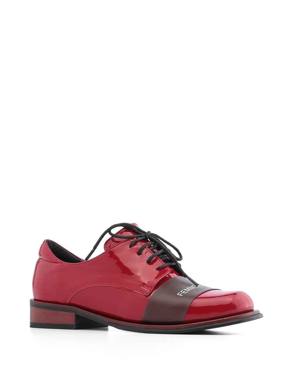 ILVi-Genuine Leather Handmade Fishnet Women's Oxford Red Women Shoes 2020 Spring Summer (Made in Turkey)