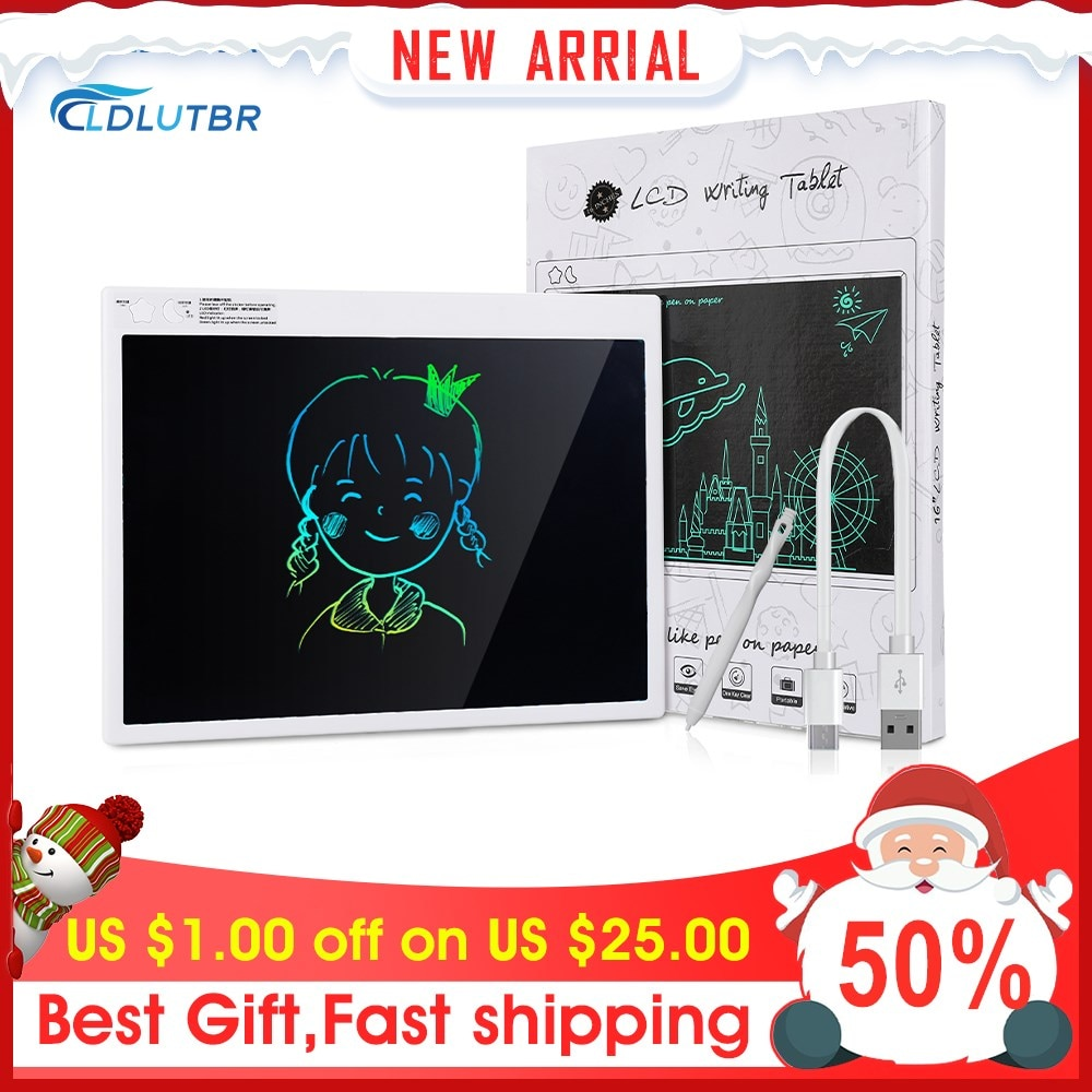 LDLUTBR 16 inch LCD Writing Tablet Colorful Screen Handwriting Board Pads Digital Drawing Tablet Electronic Memo Board With Pen