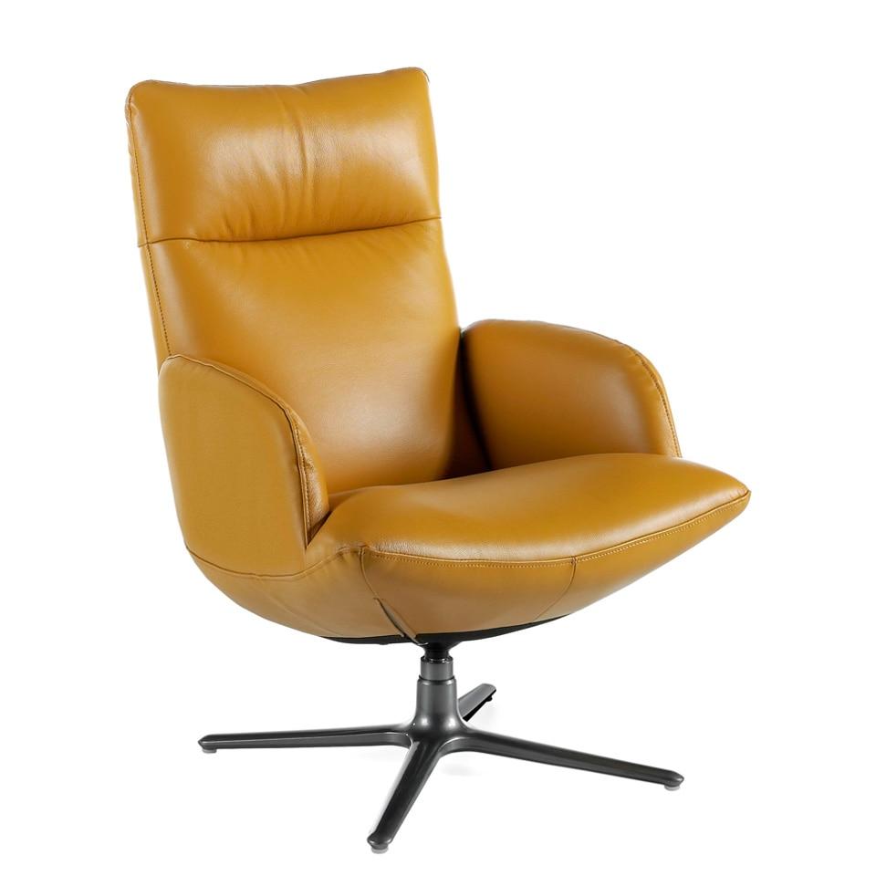 ANGEL CERDA - Moderne drehstuhl polster in 2mm dicken leder mit edelstahl basis, design stuhl 5039