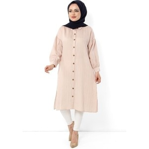 Hijab World Button Hijab Tunik TSD1112 Beige