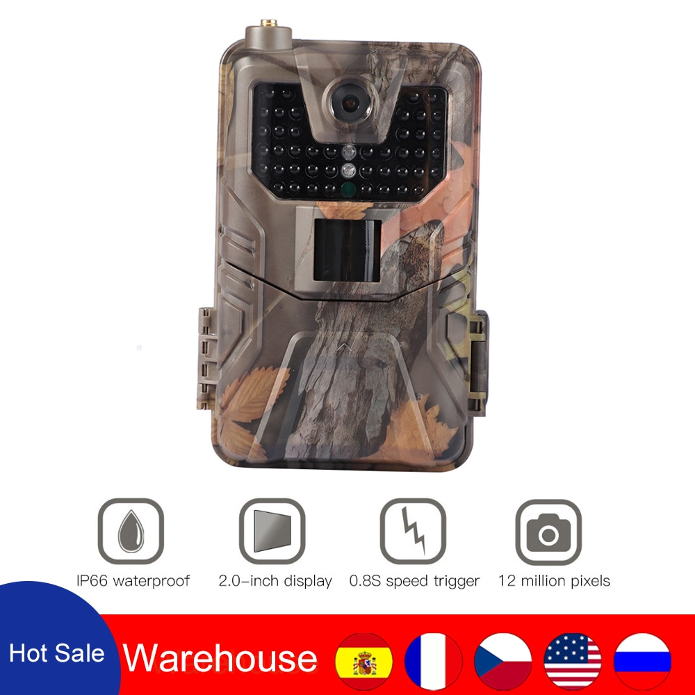 HC 900M 2G Hunting Trail Camera SMTP MMS SMS Email Wireless Camera 20MP 1080P Wildlife Camera Photo Traps 0.3s Trigger Scout