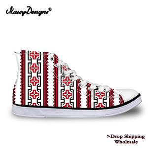 Noisydesigns 3D Ethnic Flower Women's High-top Vulcanized Shoes Customzied Canvas Shoes for Boys Autumn Sneaker Men Dropshipping