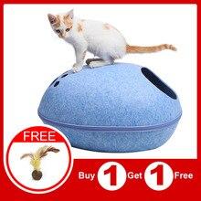 Gato de casa Cama de Gato gatos saco de dormir para mascota cueva durmiendo bolsa con cierre fieltro tela nido mascota cama para suministros para mascotas gatos gato casa