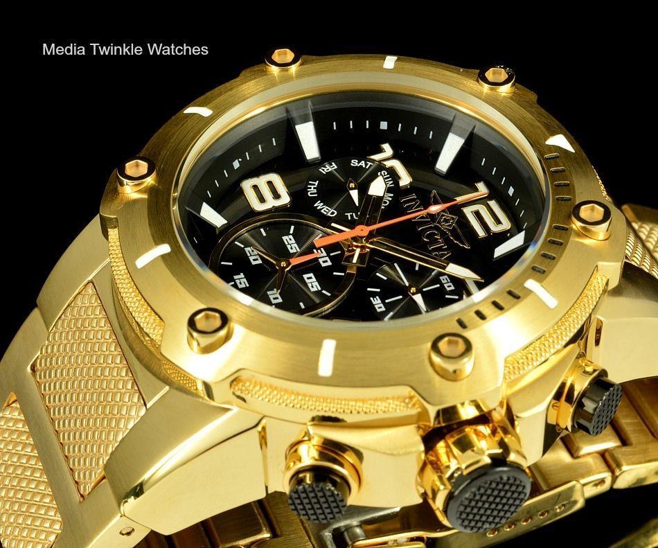 Invicta speedway ouro preto 19530 xl 52mm relógio de pulso masculino