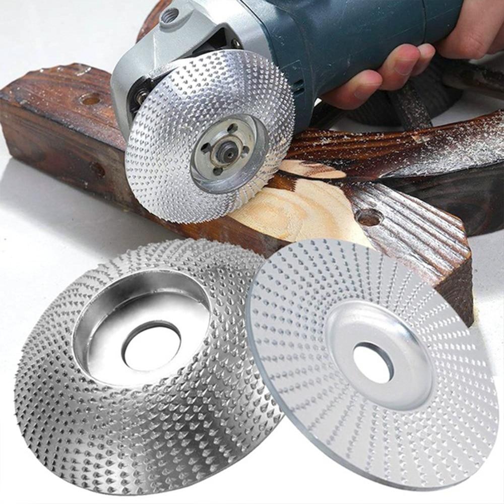 99/100mm plana redonda de madera de ángulo de rueda con disco abrasivo...