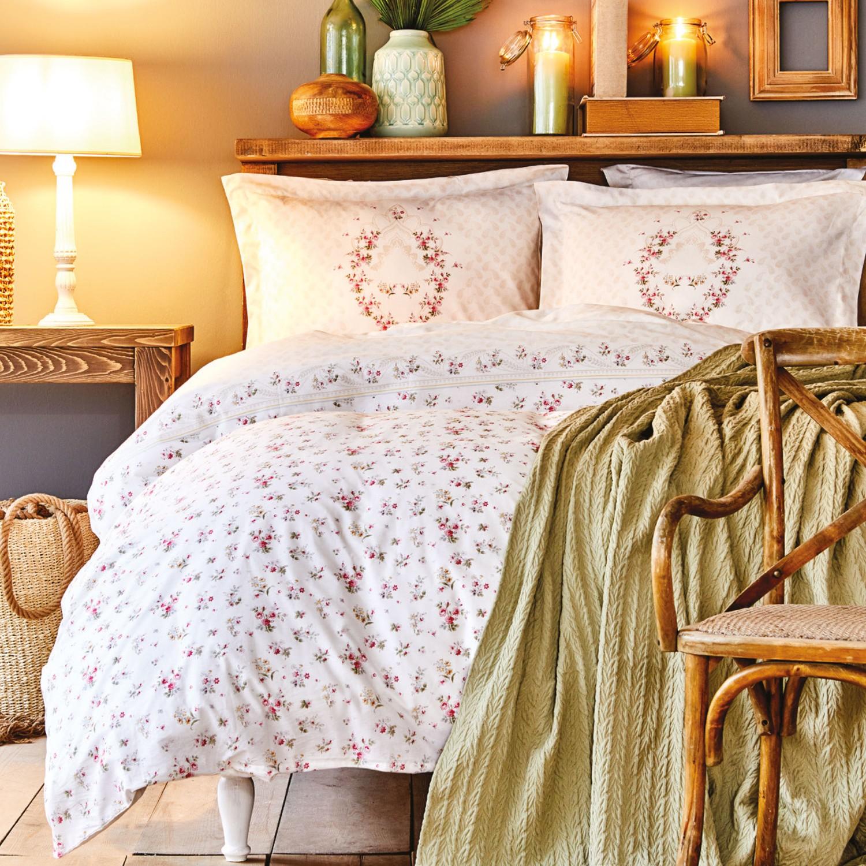 Karaca Home Sonya Green Cotton Double Duvet Cover Set enlarge