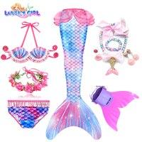 LovelyGirl New Arrival Girls Swimming Mermaid Tail Mermaid Costume Cosplay Mermaid Swimsuit Girls Birthday Gift Necklace Monofin